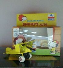 Vintage Peanuts Snoopy Flying Ace Auto ESCI Die-Cast Italy Mint Condition  HTF