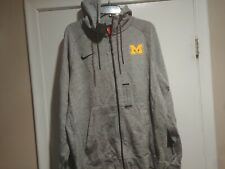 NWT Nike Michigan Full Zip Hoodie Carbon Heather X-Large