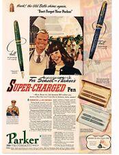 1941 Parker Television Super-Charged Pen Debutante, Maxima VINTAGE  Print AD