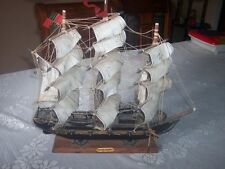 "Vintage Wooden Model Ship  FRAGATA ESPANOLA ANO 1780  16""x15"""