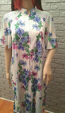 Vintage Lounger Caftan Butterfield 8 Hostess Robe Gown size S/M Floral Stripes