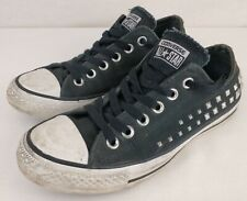 Converse All Star Black & White Studded Side Textile Shoes Size UK 5