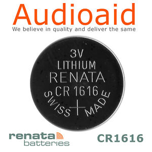 1PC RENATA CR1616 Lithium Battery 3V - Up to 20% the more you buy