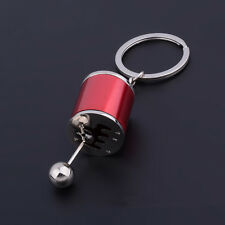 Metal Gear Box Shifter Shift Knob Small Key Chain Fob Ring Keychain Ornament US