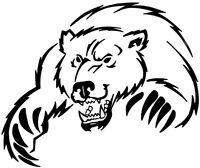 "medium 11"" bear claws car bonnet side sticker vinyl graphic decal graphic wall"
