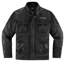 ICON 1000 FORESTALL Textile/Leather Motorcycle Jacket (Black) 3XL (3X-Large)