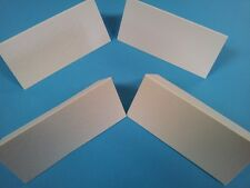 TABLE NAME PLACE CARDS X 100 WHITE SILK  FINISH- BLANK- WEDDINGS / CHRISTMAS ETC