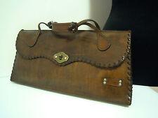 CULT VINTAGE '70 Borsa Pelle Cuoio Grande Bohemian Maxi Leather Hand Bag