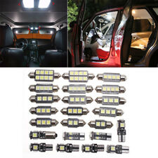 23x LED Car Vehicle Inside Light Kit Dome Trunk Mirror License Plate Lamp Bulbs
