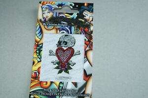 HEART AND SKULL DECAL** GENUINE ED HARDY * By CHRISTIAN AUDIGIER * NEW & SEALED