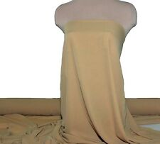 "DOUBLE GEORGETTE FABRIC NU GOLD SEMI SHEER 60"" BY THE YARD BRIDAL FORMAL, DECOR"