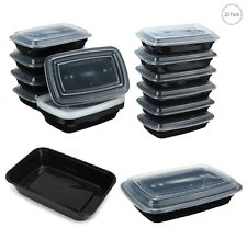 Meal Prep 1 Compartment Food Containers x 20 Pack Dishwasher Safe Microwave Box