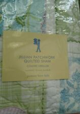 New Pottery Barn Kids Jillian Patchwork Standard SHAM blue pink floral