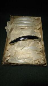 12 NOS MID CENTURY MODERN DRAWER PULLS: STILL IN BOX - JAPAN    (4497)