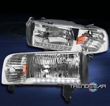 1994-2001 DODGE RAM 1500 2500 3500 TRUCK LED STRIP HEADLIGHT LAMP CRYSTAL CHROME