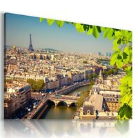 FRANCE PARIS EIFFEL TOWER View Canvas Wall Art Picture Large SIZES  L27 MATAGA