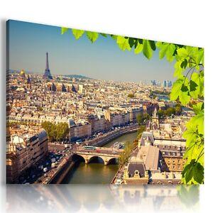 FRANCE PARIS EIFFEL TOWER View Canvas Wall Art Picture Large SIZES  L27 MATAGA