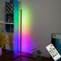Colour Changing RGB Mood Lighting Metal LED Corner Floor Wall Lamp With Remote