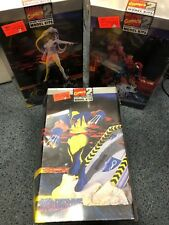 LOT 3 Marvel Model Kits SPIDERMAN STORM WOLVERINE 1996 FACTORY SEALED NEW