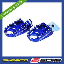 REPOSE CALE PIEDS EVO SHERCO SE-R SEF-R 125 250 300 450 SER SEFR BLEU SCAR