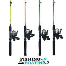 Kids Fishing Rod & Reel | Combo | Pioneer | Green | Blue | Yellow | Red | FNB