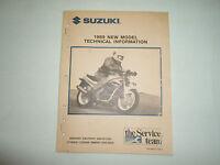 1989 Suzuki GS500EK GSX750FK GSXR1100K New Model Technical Information Manual