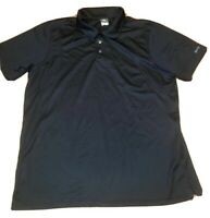 Wendy's XL Fast Food Collared Work Uniform Barco Black Polo Shirt Button Up