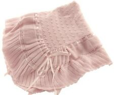 """Feltman Brothers Girls Pink Knit Baby Blanket NWT 48"""" X 48"""" Square Baby Gift"""