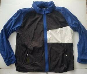 Nike Shield Golf Jacket Packable Lightweight Black Blue AJ5444 011 Men's XXL