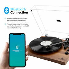 New listing Bluetooth Turntable Record Player 2-Speed Build-in Stereo Speaker Us Stock