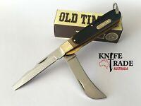 Schrade Old Timer 159OT Electricians Pocket Knife Hawkbill + Electrician blade