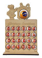 Santa Present Christmas Advent Calendar Stand Chocolate Orange & Lindt Baubles
