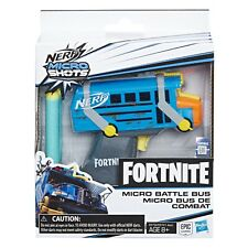 Nerf Fortnite Micro Battle Bus Microshots Blaster - Toy Dart Gun Pistol Weapon