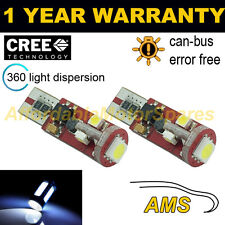 2x W5w T10 501 Canbus Error Free Blanco 5 Smd Led sidelight bombillas Brillante sl104402