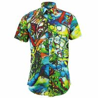 Mens Shirt Loud Originals TAILORED FIT Glass Green Retro Psychedelic Fancy
