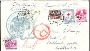 INDONESIA 1956 BANDUNG 'SEA MAIL' FDC (JF) *INTERESTING*