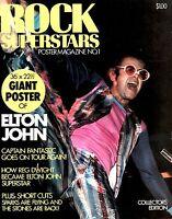 ELTON JOHN 1975 ROCK OF THE WESTIES TOUR ROCK SUPERSTARS POSTER MAGAZINE No. 1