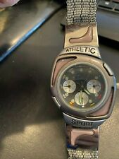 Nike Athletic Sports Watch, 5268k, Gray Fabric Band, New Battery