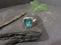 Auffälliger 925 Silber Ring Aquamarin Blautopas Modern Klein Elegant Top
