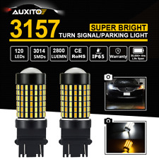 3157 Dual Color Switchback White/Amber DRL Turn Signal Light 120-SMD LED Bulb X2