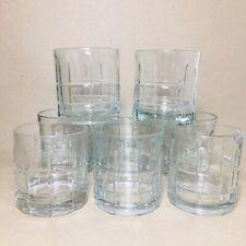 Set of 8 Anchor Hocking Old Fashioned Tartan Clear Glass Highball Tumbler Rocks