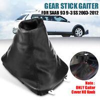 BLACK GEAR SHIFT STICK KNOB COVER GAITER GAITOR FIT CITROEN SAXO C3 C6 C5 XM..X1