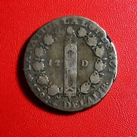 #1517 - RARE - Louis XVI 12 Deniers 1792 A Paris Lyon - FACTURE