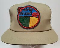 Vintage K Products Seed Mesh Large Patch Trucker Snapback Farmer Hat Made In USA