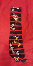 Looney Tunes Mania Mens Twick or Tweet Necktie Daffy Bugs Taz Halloween NEW