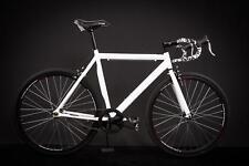 """28"""" Zoll Alu Rennrad Single Speed Race Bike Fixi Fahrrad Fixed Gear Rh 56cm weis"""