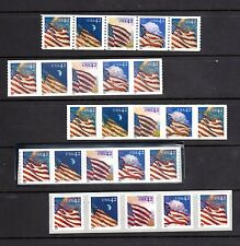 Set of ALL 24/7 Flag  Strips W/Pl#s (IN CORRECT ORDER)  4228-4247 MNH-Vf - Pg33A