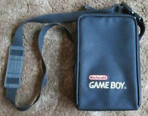 Vintage Official Nintendo Gameboy Black Travel Shoulder Bag Carrying Case Nylon