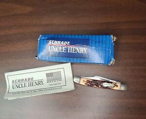 Schrade Uncle Henry 807UH J.R. Pocket Knife USA Made 3 Blade READ