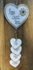 Personalised Home Sweet Home Family Hanging Plaque/Sign, Wooden, New Home Gift